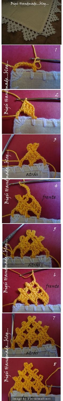 Bigu Handmade: Neverending Lace ~ Puntilla sin fin ~~ http://biguhandmade2.blogspot.com.ar/2011/03/puntilla-sin-fin-neverending-lace.html