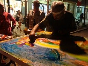 "Action painting, food & wine with the action painter Terzo Raffelli ""De Porcon"" in Versilia!"