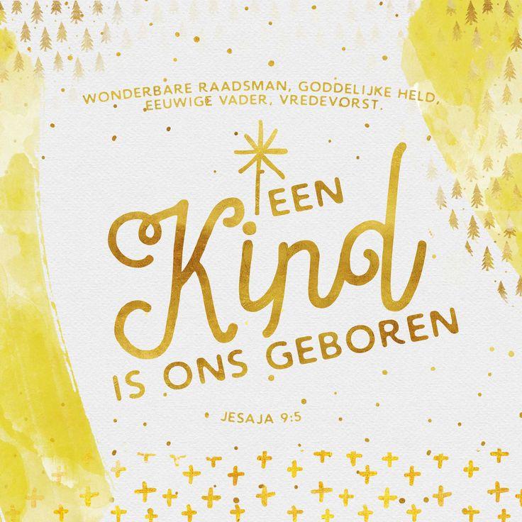 Een kind is ons geboren, een zoon is ons gegeven; de heerschappij rust op zijn schouders. Deze namen zal hij dragen: Wonderbare raadsman, Goddelijke held, Eeuwige vader, Vredevorst.Jesaja 9:5  #Jezus, #Kerst  https://www.dagelijksebroodkruimels.nl/jesaja-9-5-v2/