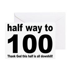 HALF WAY TO 100 Greeting Card for | 50th Birthday or ...