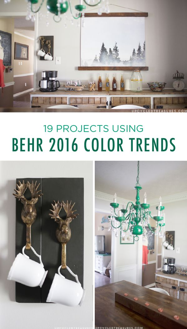 Whether you're looking for a quick and easy DIY weekend activity or a dramatic furniture makeover, these 9 projects using BEHR 2016 color trends have just ...