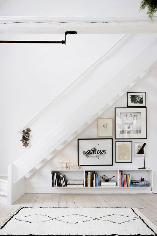 white open shelves under the staircase / sfgirlbybay