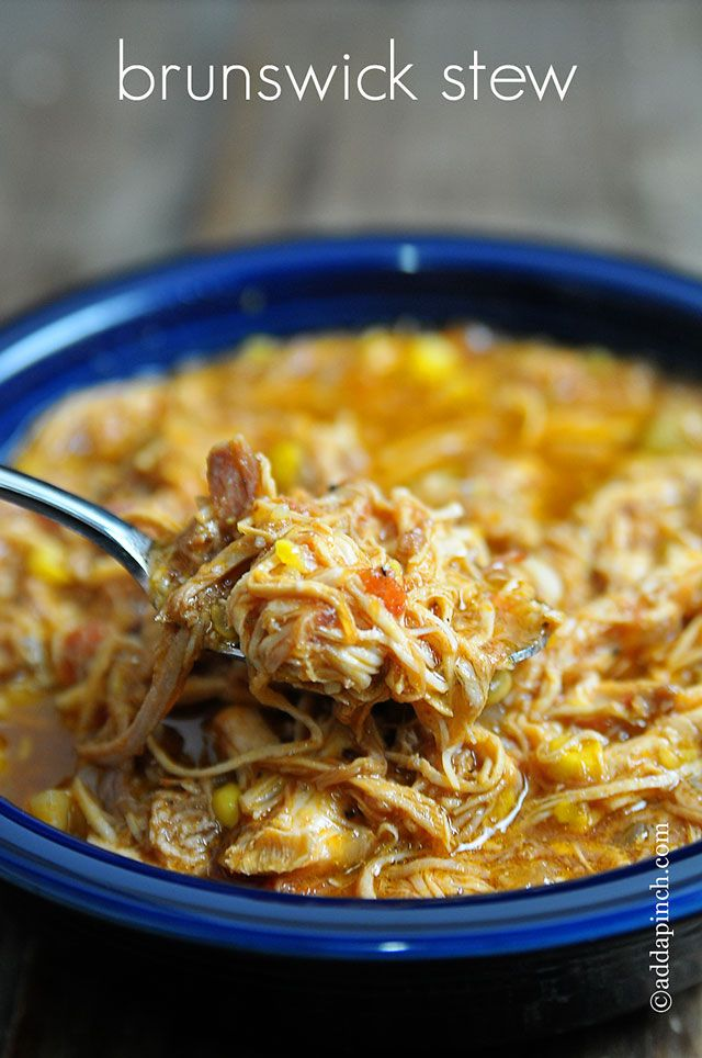 Southern Comfort Food Fave --> Brunswick Stew via add a pinch #slowcooker