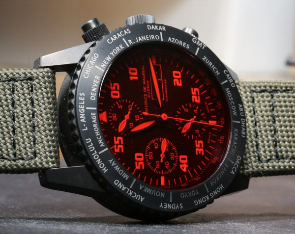 Maurice de Mauriac Chronograph Modern Travel Timer Watch Review   maurice de mauriac $4,500