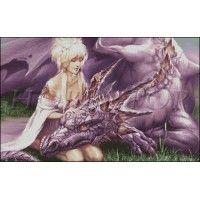 """Схема вышивки  """"Девушка и дракон"""""""