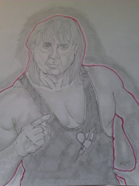 WWE Hall Of Fame Wrestler, The Late great Owen Hart. The King Of Kings.  Size: 8.5'x11'  For Sale: $25 free shipping!