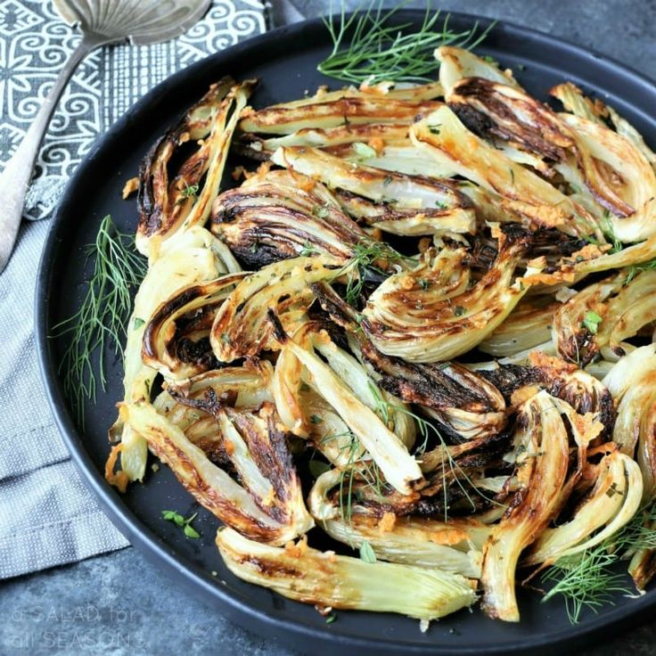 Herb-roasted fennel with Asiago cheese