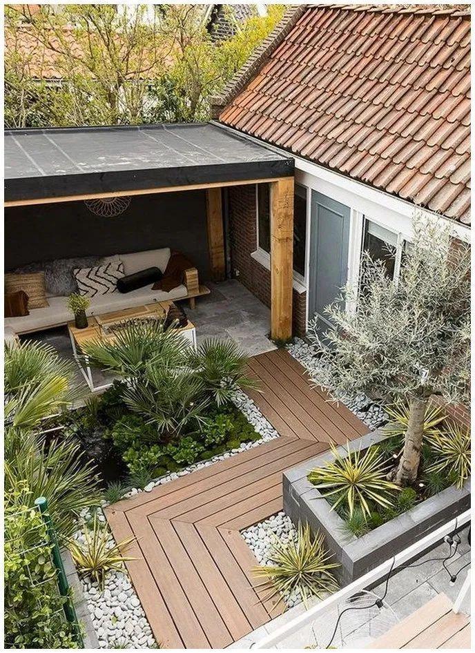 110 Modern Patio Backyard Design Ideas That Are Trendy On Pinterest Cozy Home 101 Tropische Tuin Tropische Planten Huis En Tuin