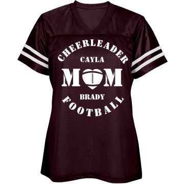 Cheer & Football Mom Jersey | Cheer and Football Mom Jersey.