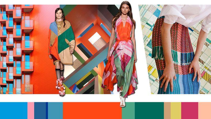 Façade: grafische vormen - colour blocking - kubisme - architectuur