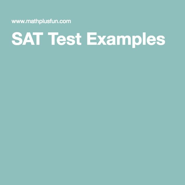 SAT Test Examples