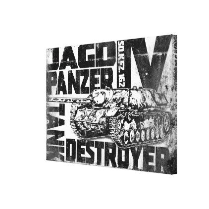 Jagdpanzer IV Stretched Canvas Print - diy cyo personalize design idea new special custom