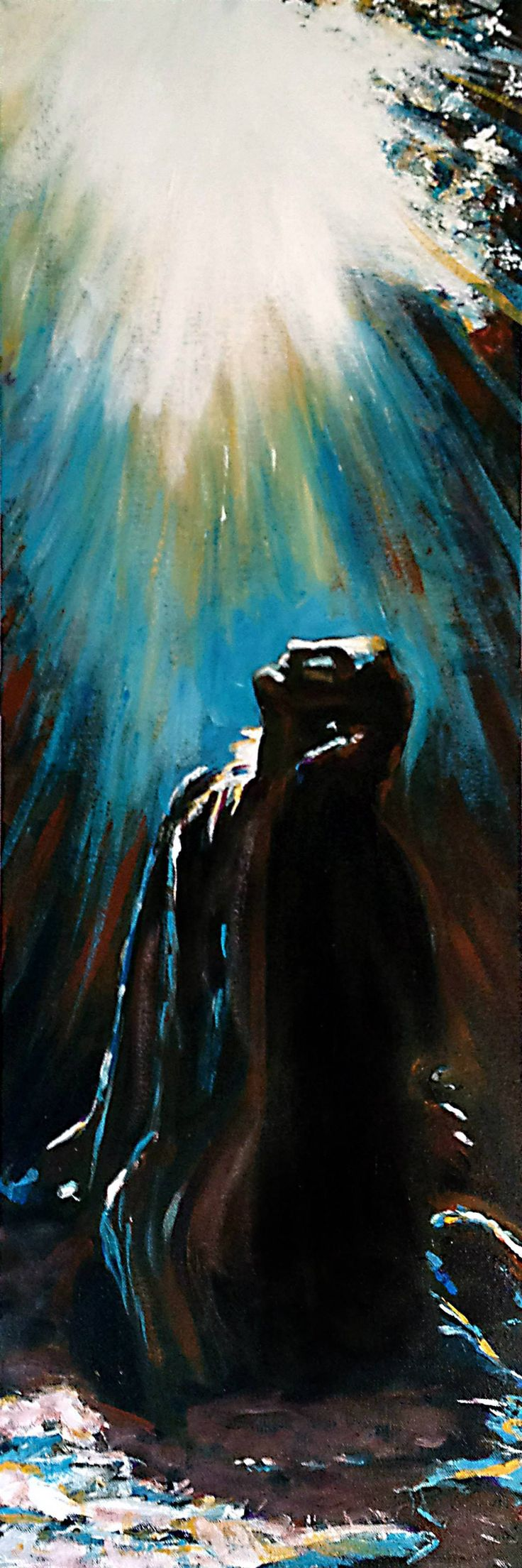 "Gethsemane - 12"" x 36"" acrylic on canvas by Steve Gamba"