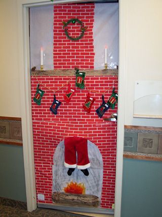 The third place award in the SMHC decorate a door contest was the Cottonwood Clinic Door #2, Fireplace with Santa.
