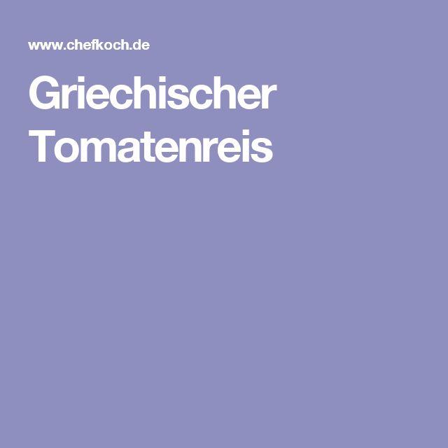 Griechischer Tomatenreis