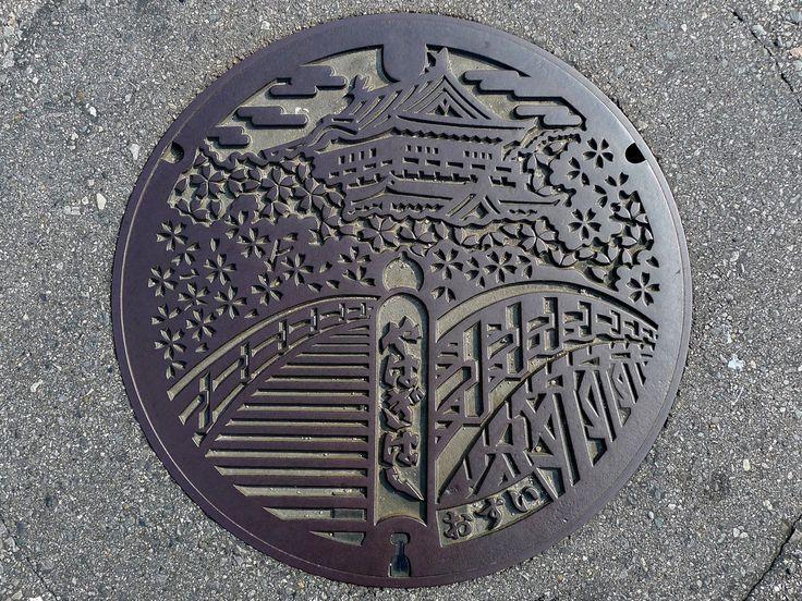 Okazaki Aichi, manhole cover 2 (愛知県岡崎市のマンホール2) | Flickr - Photo Sharing!