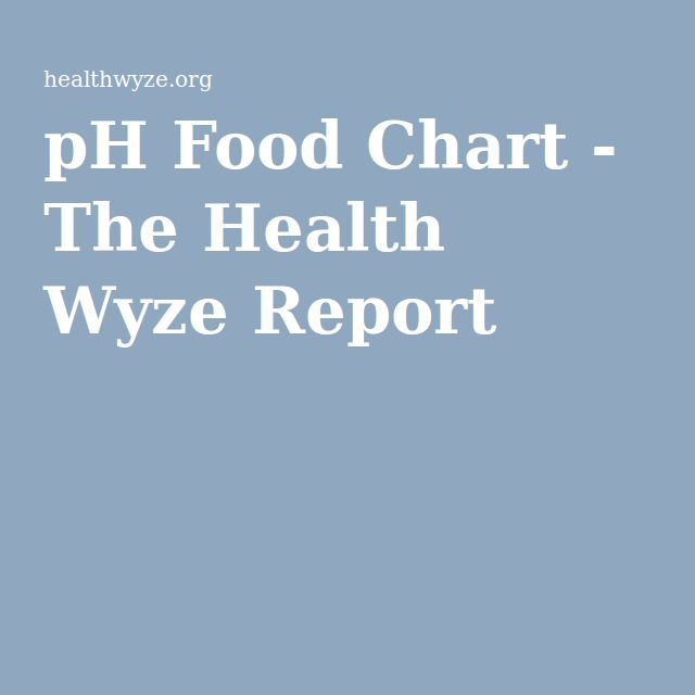 Beste Ideen Over Ph Food Chart Op