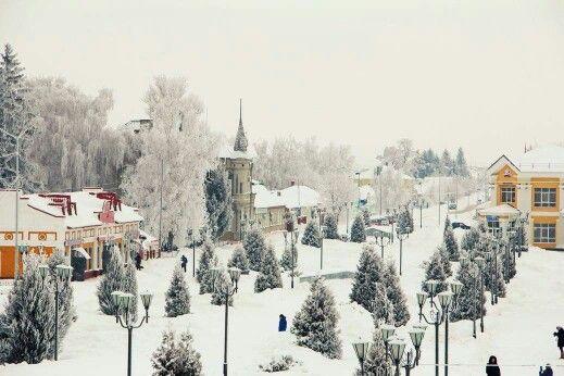 Заснеженный Грайворон Белгородской области.