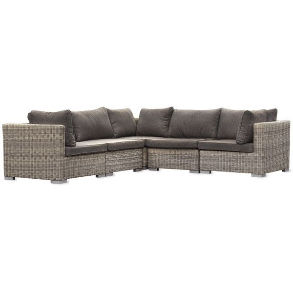 Garden Trading Marden Corner Sofa Set Rattan ($3,175) ❤ liked on Polyvore featuring home, outdoors, patio furniture, brown, rattan outdoor furniture, outdoor sofa sets, rattan sofa set, outdoor garden furniture and outdoor rattan patio furniture