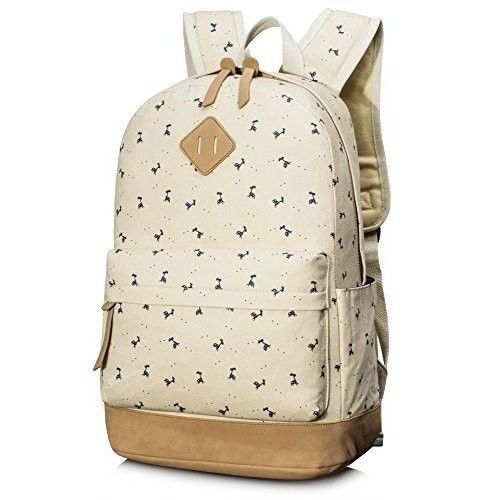 Student School Backpack College Bags Laptop 14'' Bag for Girls - Deer Beige NEW #StudentSchoolBackpackCollegeBags
