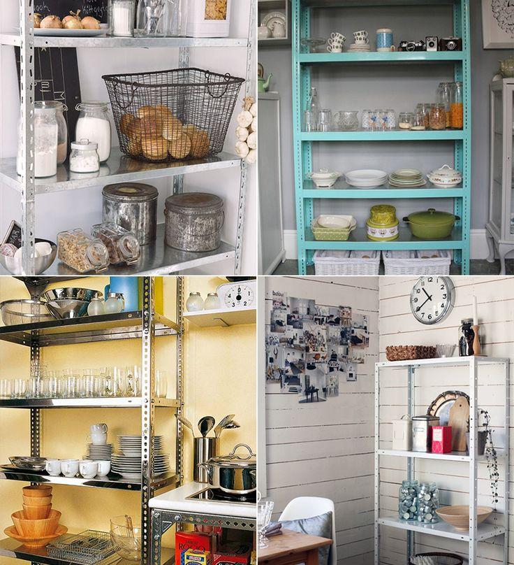 Estantes de a o para decorar e organizar a casa despensa - Estanterias metalicas para casa ...