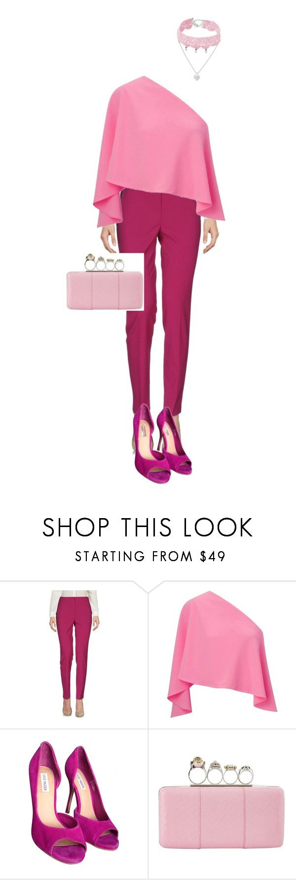 """""""цвет3"""" by sdelanodoma on Polyvore featuring Les Copains, Roland Mouret, Steve Madden, Alexander McQueen and Design Lab"""