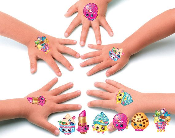 Shopkins party favors - shopkins temporary tattoos set of 10 by BirthdayPartyBox