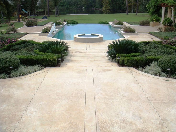 Best 20 landscaping around deck ideas on pinterest no for Cool decking around pool