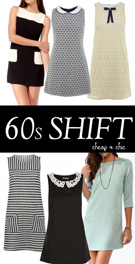 1960s shift dresses - high street Cheap dresses
