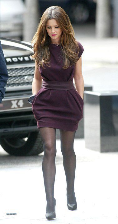 love the plum color. cute for fall/winter work attire. and dresses with pockets are awesome!