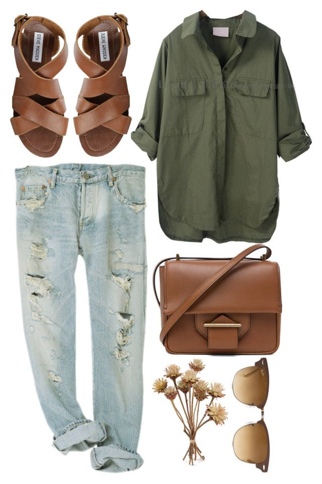 """""""Untitled #18"""" by tara-lynne14 ❤ liked on Polyvore featuring Steve Madden, Ray-Ban and Reed Krakoff"""