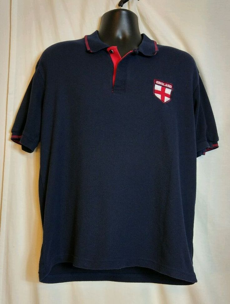 England Short Sleeve Multi Color Cotton Polo Shirt Size L #England #PoloRugby