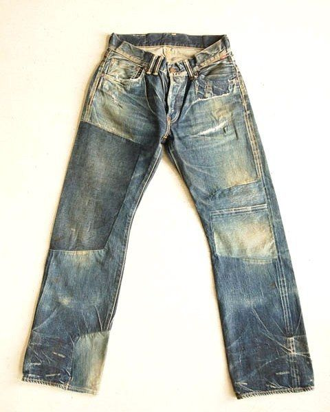 Anachronorm damaged denim #jeans #rugged #menswear #fashion #mode #style #vintage #patch #patchwork