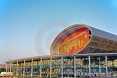 Famous Pazhou complex in guangzhou, china, where canton fair 2012 is being held.