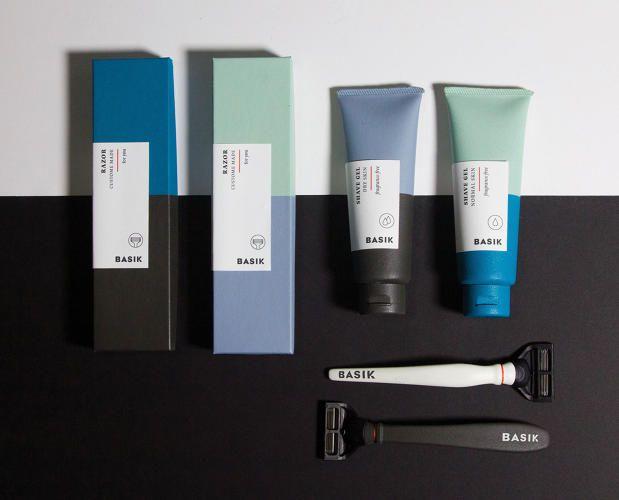 Saana Hellsten - Basik - Packaging for a gender neutral shaving kit - etapes.com