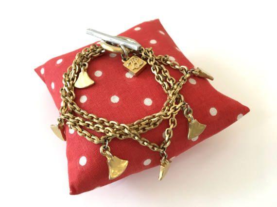 Bracelet multirangs Karl Lagerfeld . bracelet doré par OhInTheShop