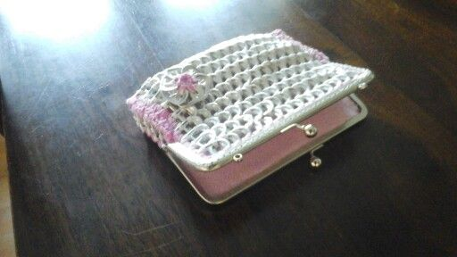 Summer vacation has started. Now I have time to create new pop tab purses!