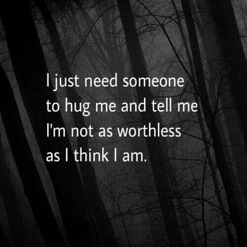 He doesn't care anymore...he has finally seen how worthless I am how useless I am how I am a waist and a nuisance...