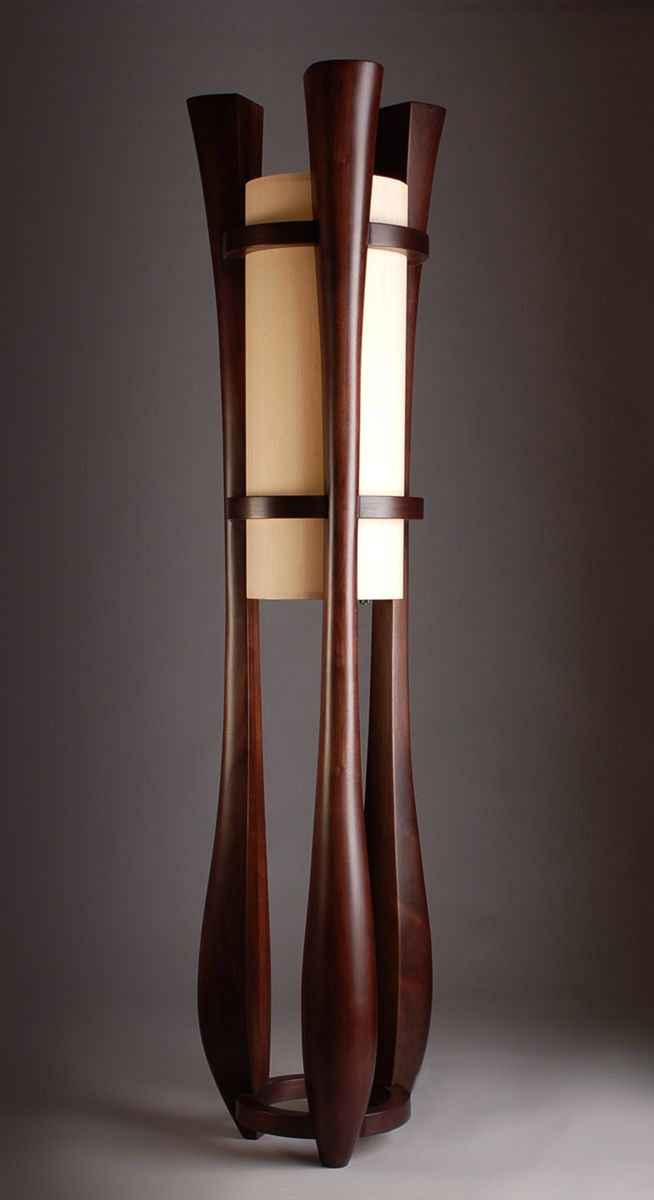 """Chronos"" three legged walnut floor lamp (custommade.com)"