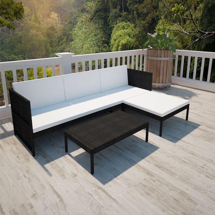 Garden Sofa Set Patio Corner Rattan Modern Couch With Table Outdoor Furniture #GardenSofaSet