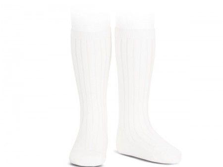 Hvite knestrømper