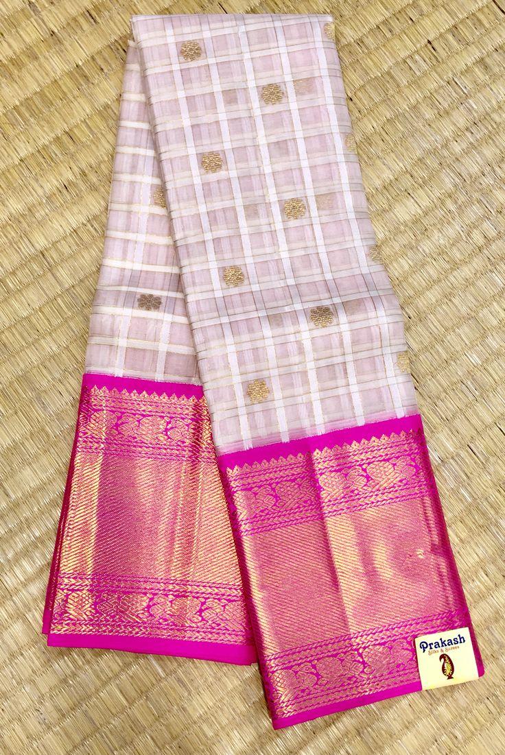 Organza fancy traditional sarees from prakashsilks.