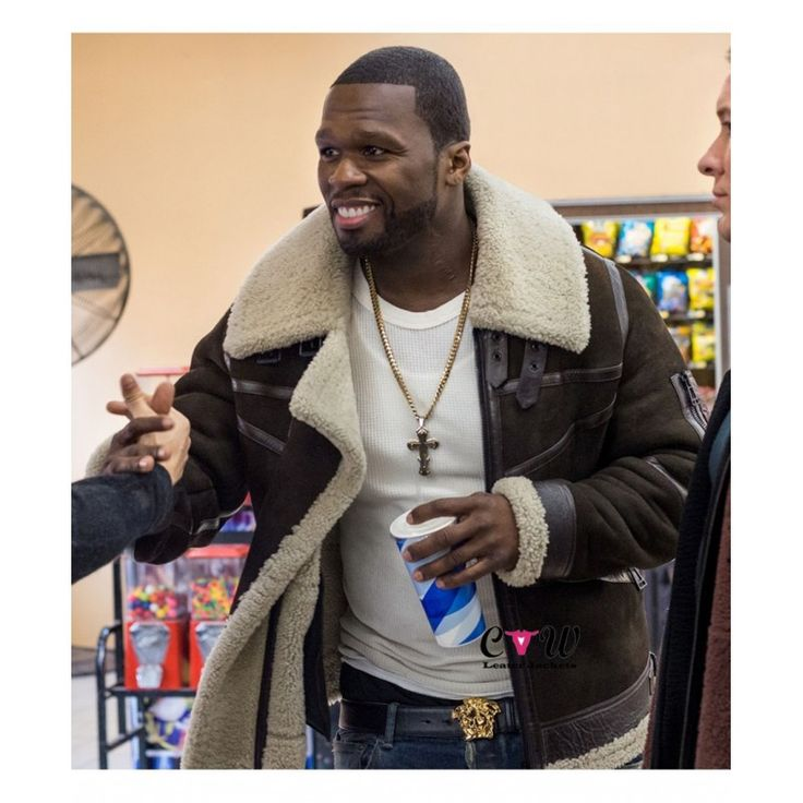 Power 50 Cent Brown Suede Leather Jacket