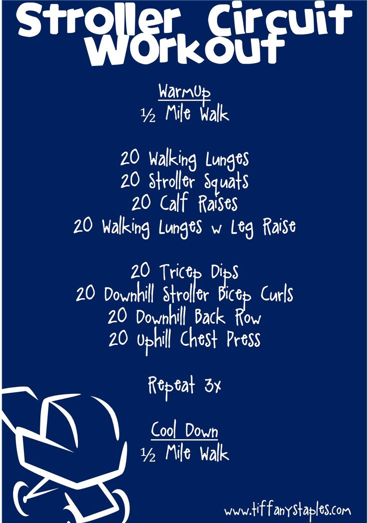 Easy to follow! Great workout for starting back after pregnancy. Best of all, no gym is needed and you take your baby with you