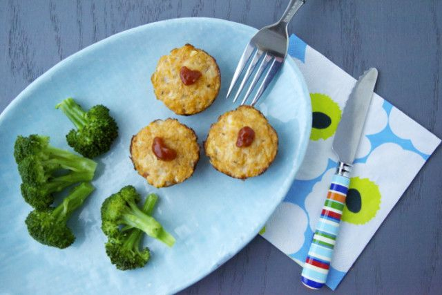 Chicken Parmesan Meatloaf Bites Recipe - very kid-friendly and makes great leftovers!
