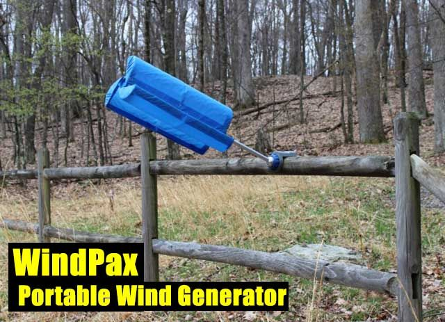 WindPax Portable Wind Generator - SHTF Preparedness