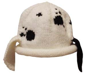 Spotted Puppy  Hat {free pattern}.  Can be knit on two needles. Love this little hat.