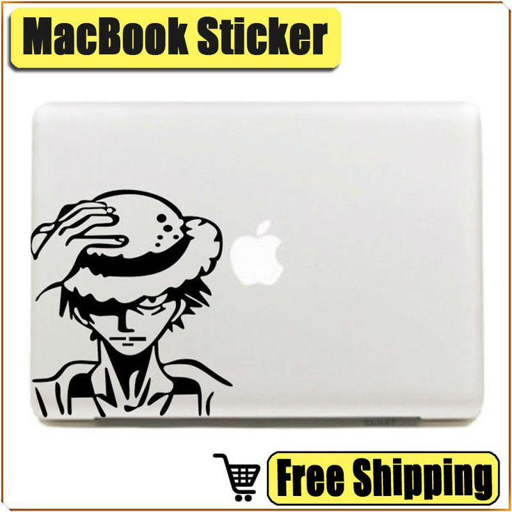 """Luffy Captain Laptop Sticker for Apple Macbook Air Pro Retina 11"""" 12"""" 13"""" 15"""" Mac Notebook Decal //Price: $21.00 & FREE Shipping //     #onepiece #onepieceanime #dluffystore"""