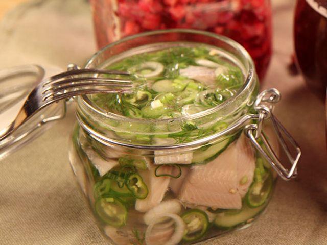 Myllymäkis sill med gurka och chili (kock Tommy Myllymäki)