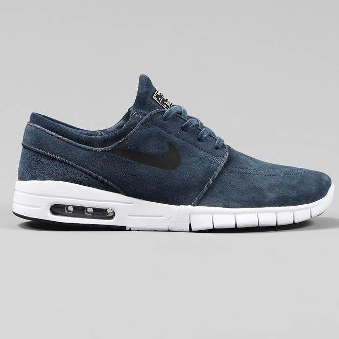 new product aab9d 32998 ... Nike SB Stefan Janoski Max L Shoes Squadron Blue Black White ...